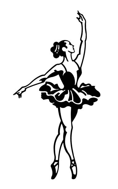 332 Ballerina Black And White Illustrations Royalty Free Vector Graphics Clip Art Istock