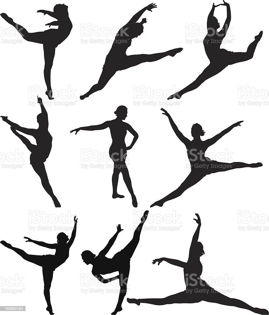 ballerina in action stock vector art 165692484 istock