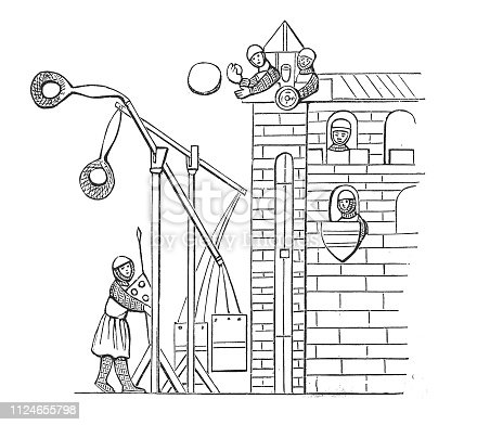 Illustration of Ballista, ancient projectile machine