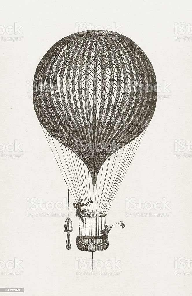 Balloon by Charles Green, wood engraving, published in 1877 royalty-free balloon by charles green wood engraving published in 1877 stock vector art & more images of british culture