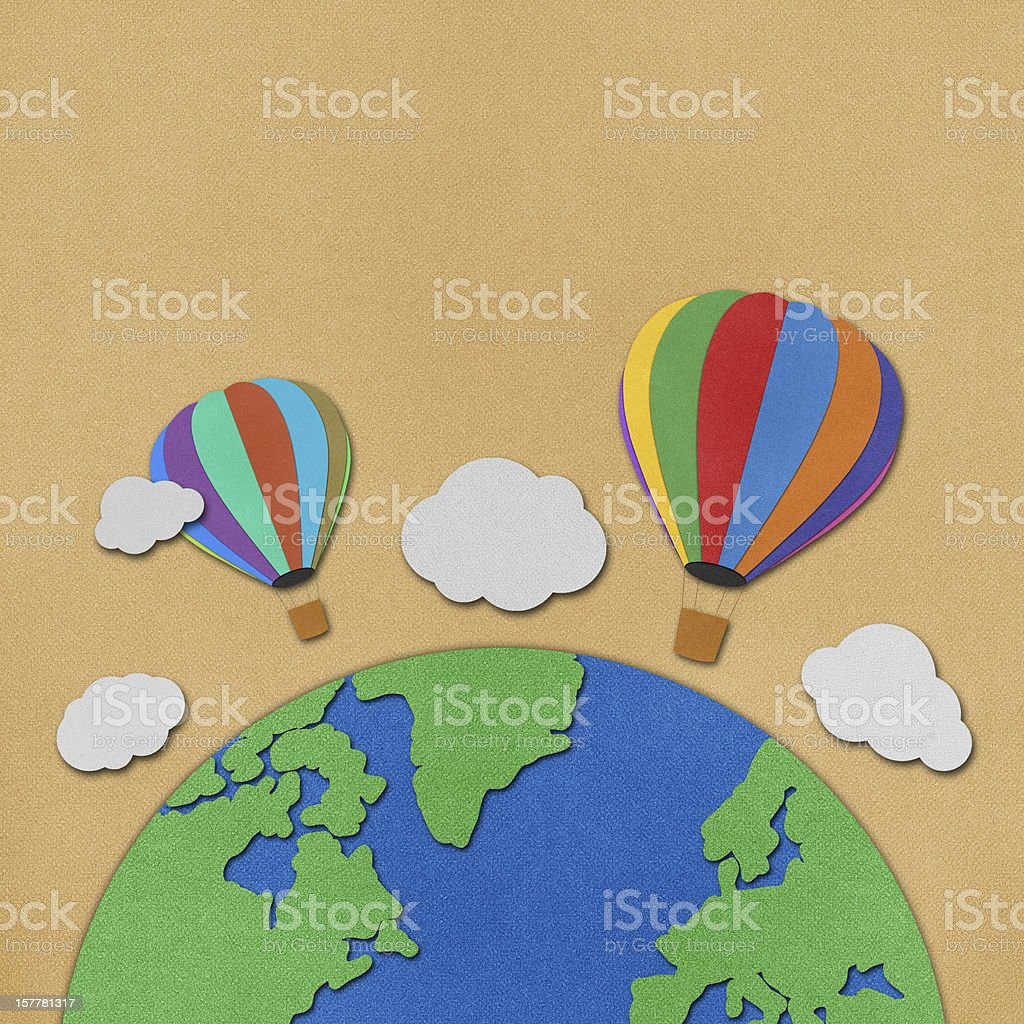 Balloon  recycled paper background royalty-free stock vector art