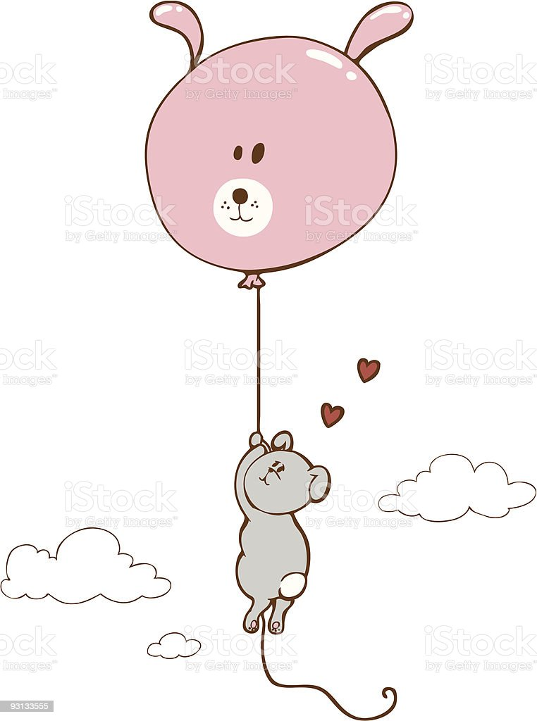 Balloon-bunny vector art illustration