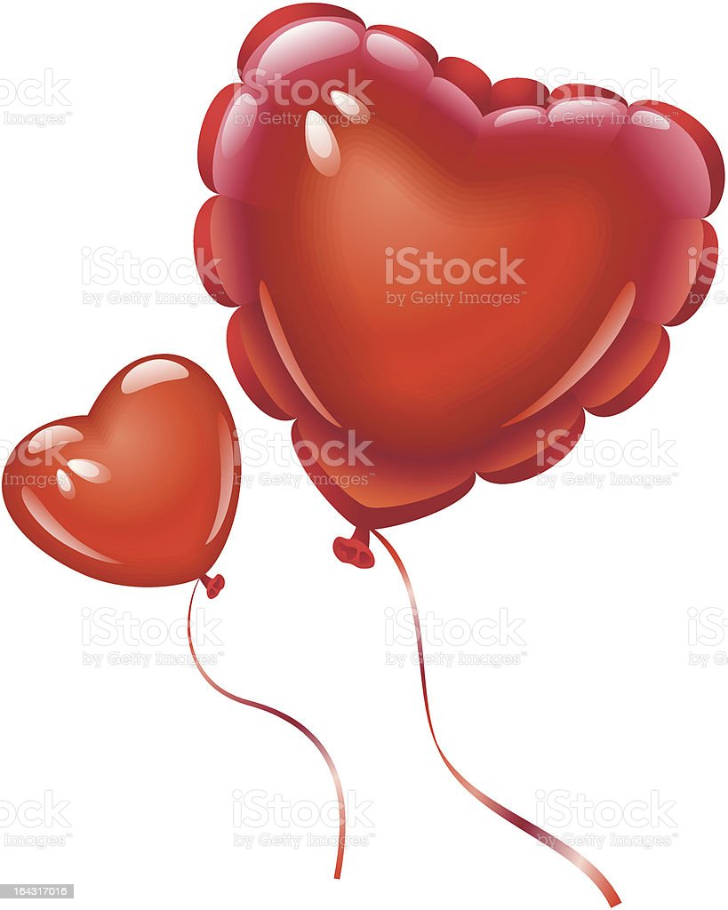 Balloons in the shape of heart royalty-free stock vector art