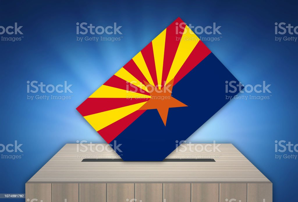 Ballot Box - Election - ARIZONA, USA vector art illustration