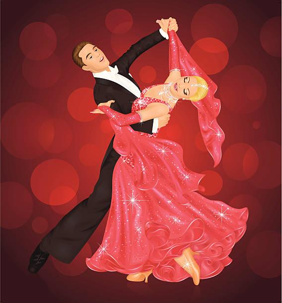 ballsaal tanz. - ballsäle stock-grafiken, -clipart, -cartoons und -symbole