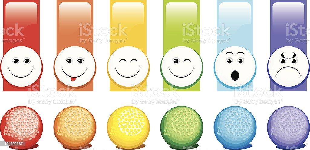 Bälle für golf – Vektorgrafik