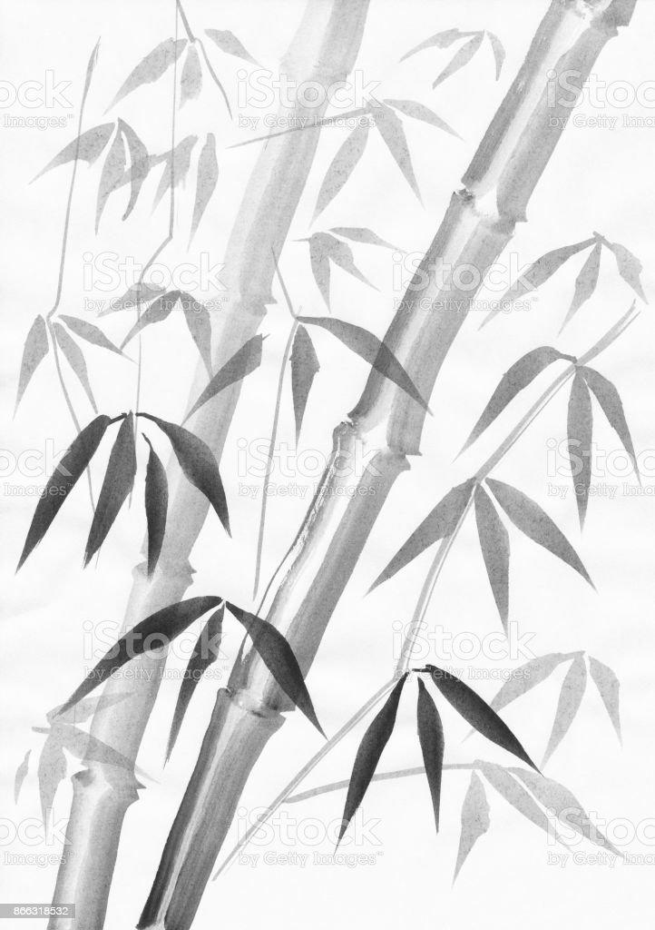 Bambusmalen Mit Licht Verlasst Stock Vektor Art Und Mehr Bilder Von