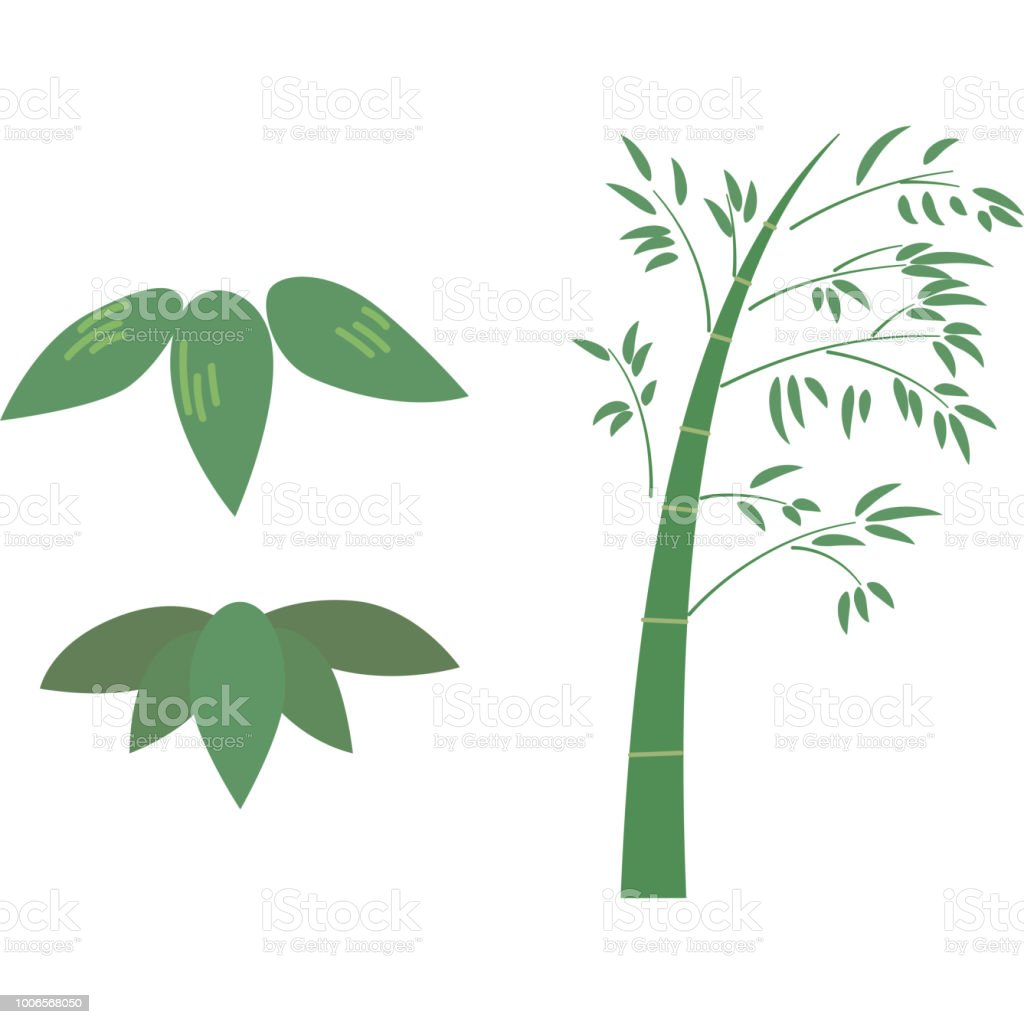 竹のパーツ ベクターアートイラスト