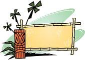 bamboo tiki sign