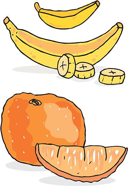 banana and orange vektorkonstillustration