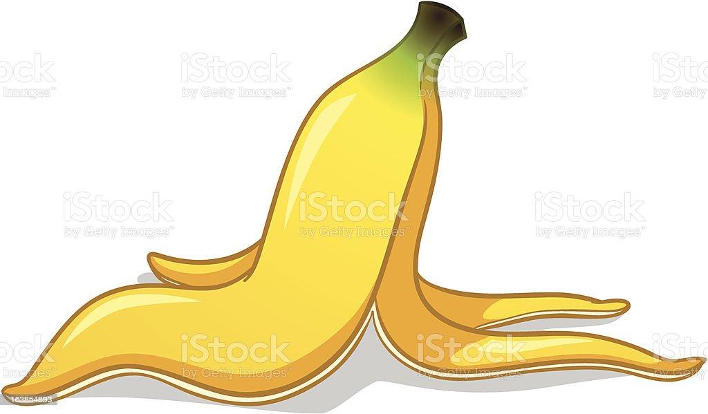 Banana peel royalty-free stock vector art