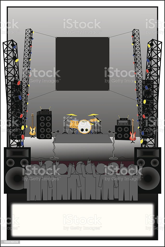 Band Poster Template royalty-free stock vector art
