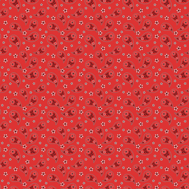 Bandana seamless pattern vector art illustration