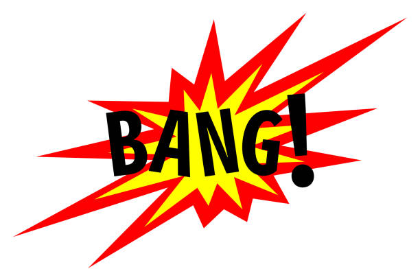 bang! explosion sign - sound effects stock illustrations, clip art, cartoons, & icons