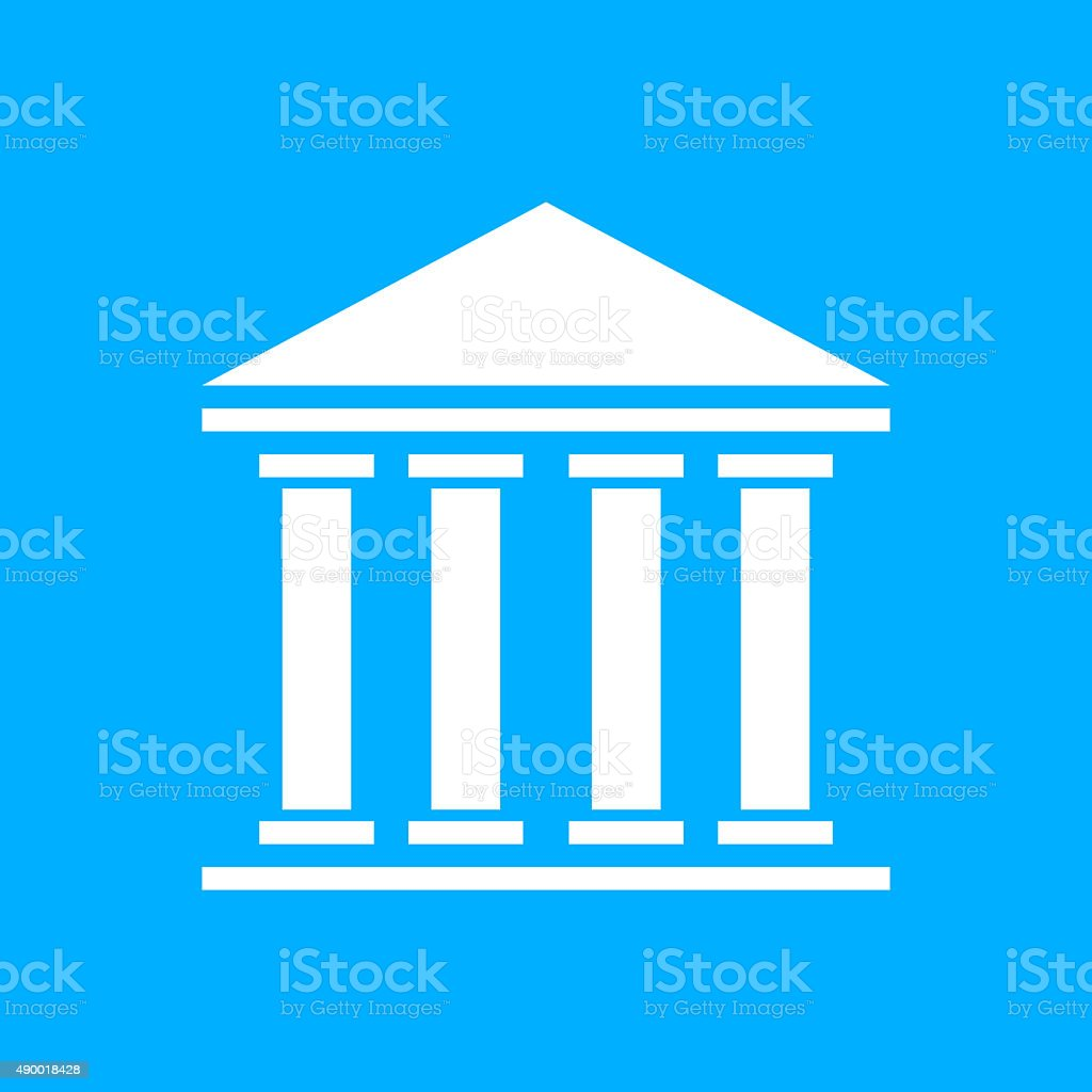 Bank icon on a blue background. - Smooth Series royalty-free bank icon on a blue background smooth series stock vector art & more images of 2015