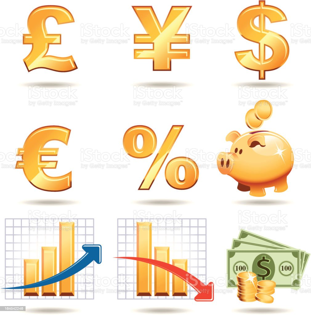 bank icon set 4 royalty-free stock vector art
