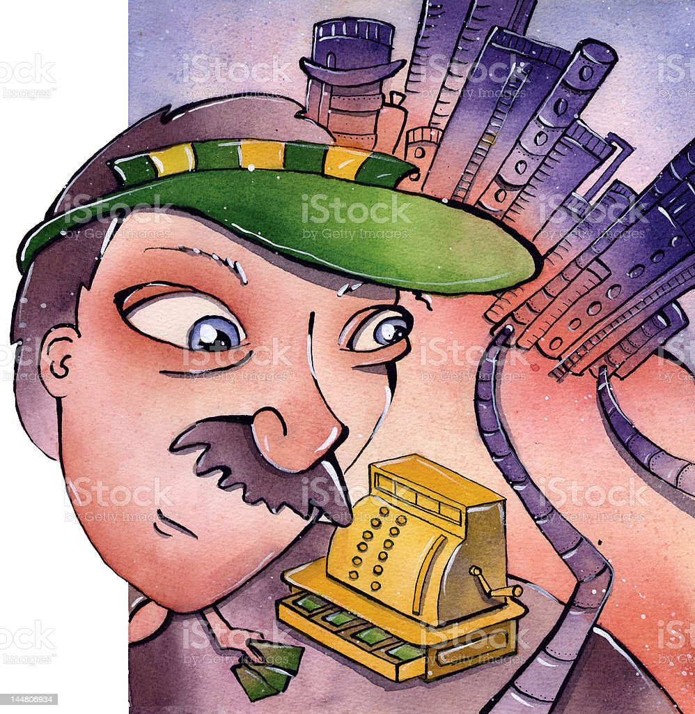 Banker royalty-free stock vector art