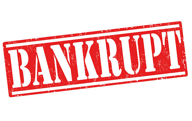 bankrupt stamp - bankruptcy stock illustrations, clip art, cartoons, & icons