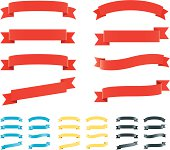 """""""Various shaped banners, four global colour sets included."""""""
