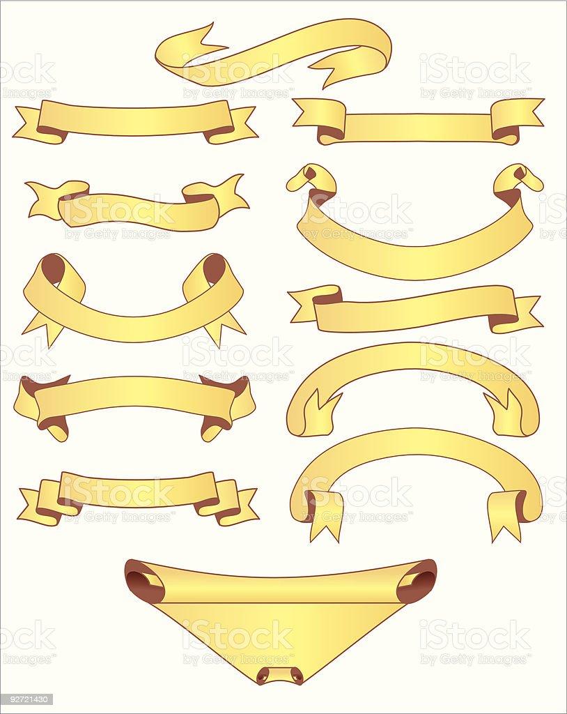 Banners set royalty-free banners set stock vector art & more images of collection