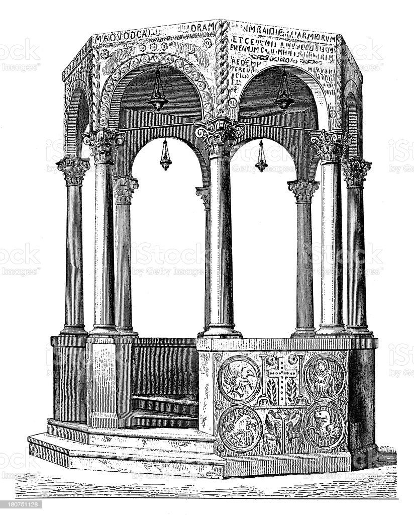 Baptistery in Cividale del Friuli royalty-free baptistery in cividale del friuli stock vector art & more images of 19th century