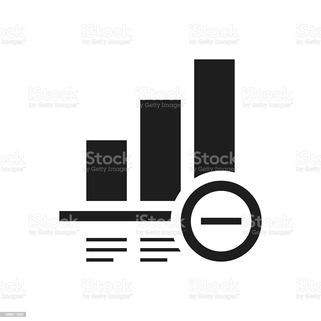 Bar Graph icon on a white background. - Single Series royalty-free bar graph icon on a white background single series stock vector art & more images of 2015