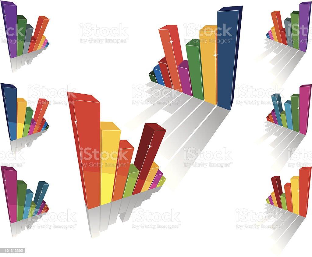 Bar Graphs royalty-free stock vector art