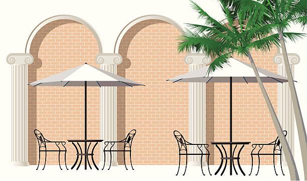 ilustrações de stock, clip art, desenhos animados e ícones de de tabelas com varanda - coffee table