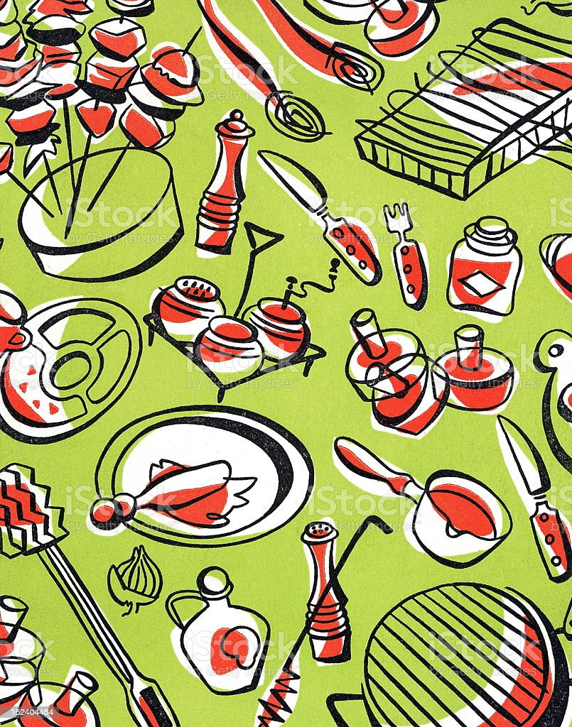 Barbecue Pattern royalty-free stock vector art