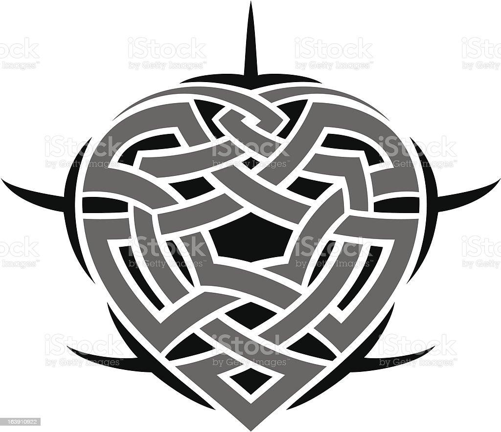 Barbed Heart Tattoo stock vector art 163910922 | iStock