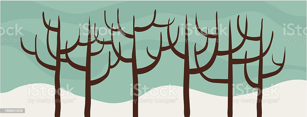 Bare Trees royalty-free stock vector art