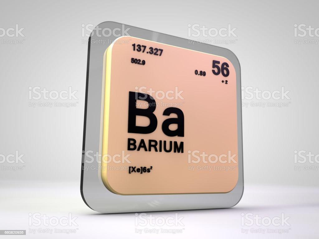 Ilustracin de bario ba elemento qumico tabla peridica 3d render y bario ba elemento qumico tabla peridica 3d render ilustracin de bario ba elemento qumico urtaz Gallery