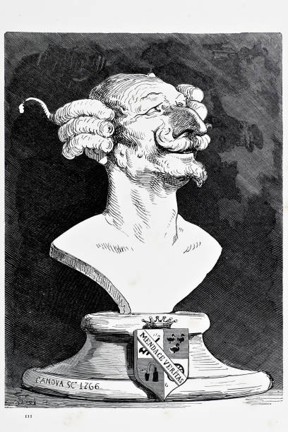 baron munchausen - old man funny pictures stock illustrations, clip art, cartoons, & icons