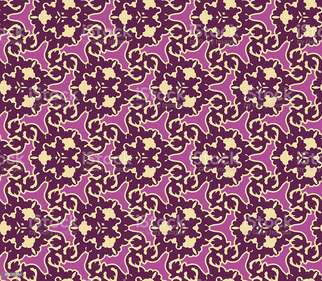Baroque Inspired Seamless Pattern Tile. royalty-free stock vector art