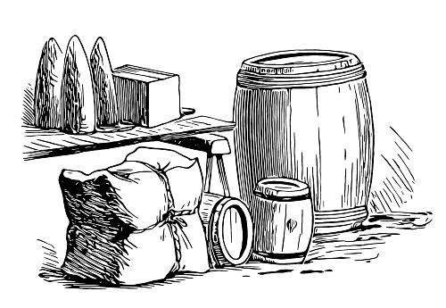Barrel box package