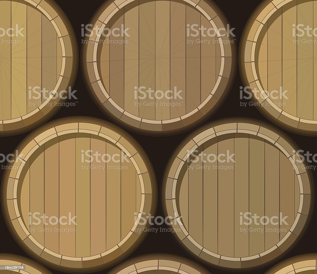 barrel stand seamless background vector art illustration