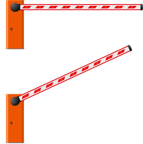 Royalty free security gate clip art vector images