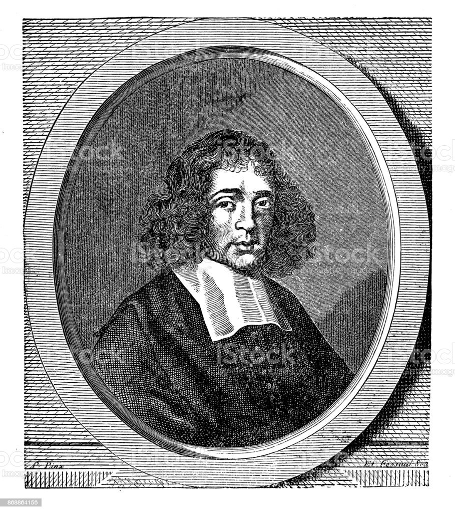 Baruch De Spinoza Dutch Philosopher Stock Illustration