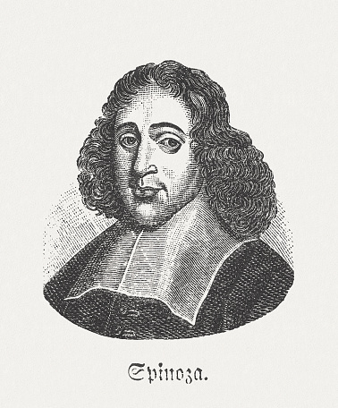 Baruch De Spinoza Dutch Philosopher Published In 1881 Stock