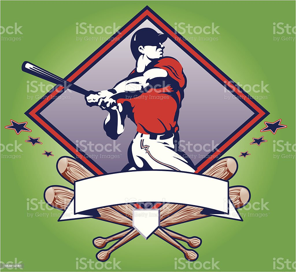 Baseball all star vector art illustration