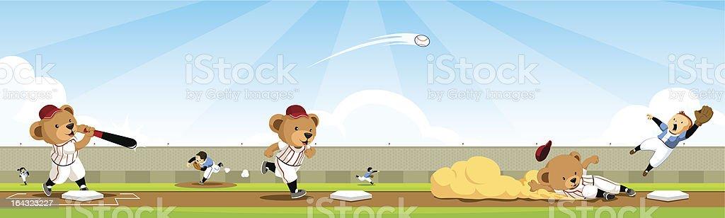 Baseball bear team sequence royalty-free stock vector art