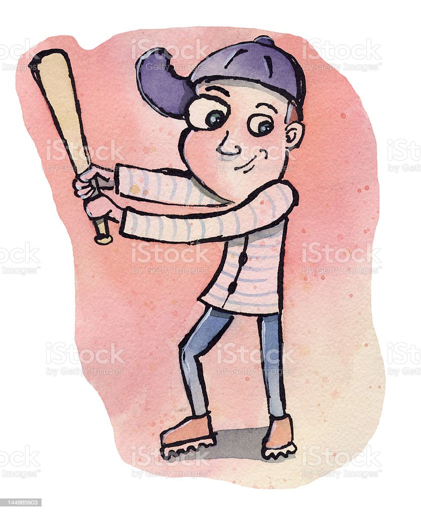 Baseball boy royalty-free stock vector art