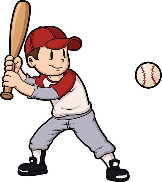 Royalty Free Kids Baseball Clip Art, Vector Images ...