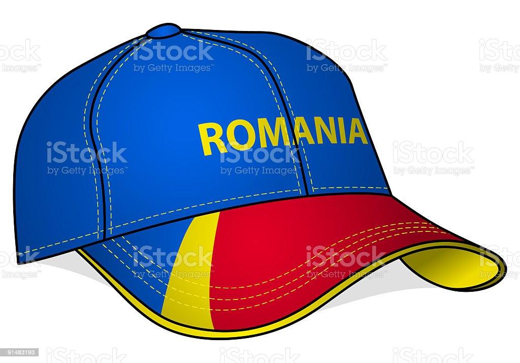 Baseball Cap - Romania royalty-free stock vector art