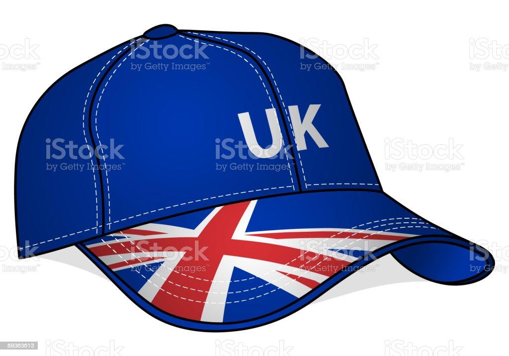 Baseball Cap - United Kingdom royalty-free stock vector art
