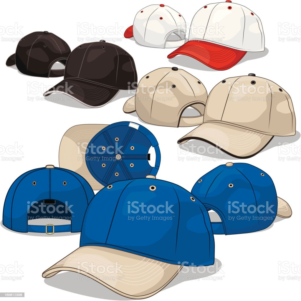 Baseball Caps royalty-free baseball caps stock vector art & more images of baseball - sport