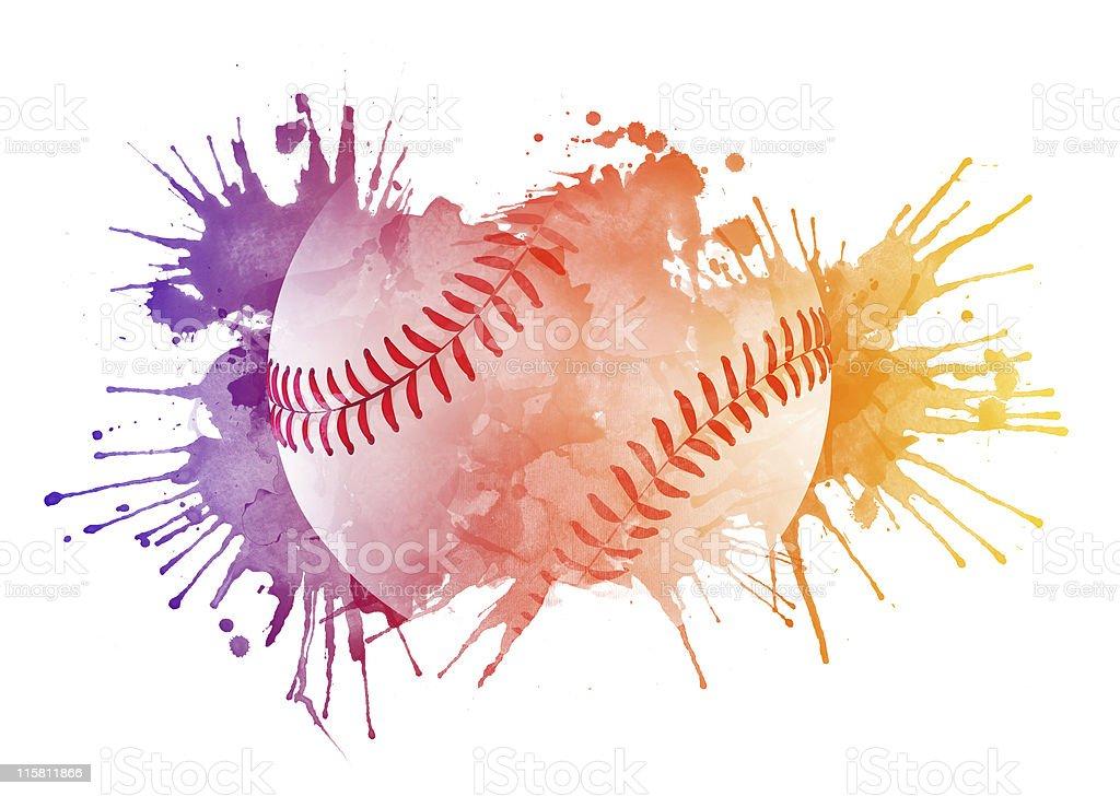 Bola de béisbol - ilustración de arte vectorial