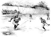Baseball game | Antique Sport Illustrations