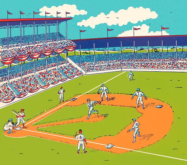 Baseball Game vector art illustration