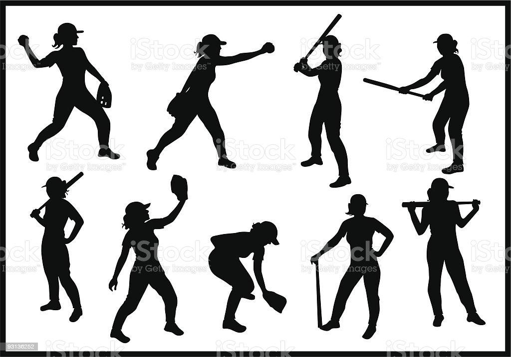 Baseball Girl royalty-free baseball girl stock vector art & more images of activity